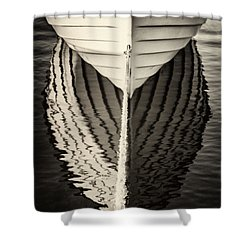 Boat Mirrored Shower Curtain by Mike Santis