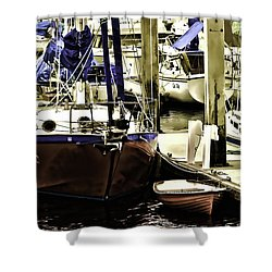 Boat Shower Curtain by Muhie Kanawati