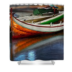 Boat Shower Curtain by Rick Mosher