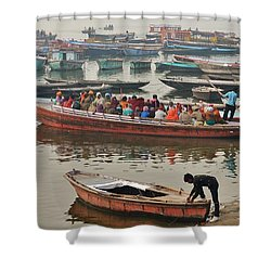The Journey - Varanasi India Shower Curtain
