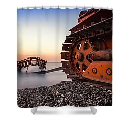 Boat Tractor Shower Curtain