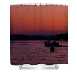 Boaters Red Sky At Night Oregon Shower Curtain by Susan Garren