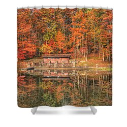 Boathouse At Boley Lake Shower Curtain