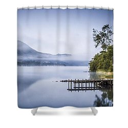 Boathouse At Pooley Bridge Shower Curtain