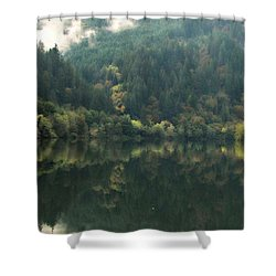 Shower Curtain featuring the photograph Boathouse by Katie Wing Vigil