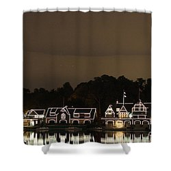 Shower Curtain featuring the photograph Boathouse Row by Christopher Woods