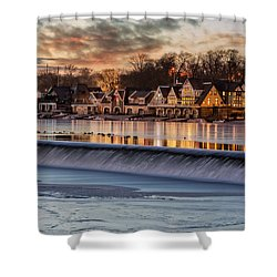 Boathouse Row Philadelphia Pa Shower Curtain