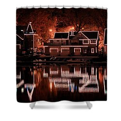 Boathouse Row Reflection Shower Curtain