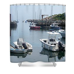 Shower Curtain featuring the photograph Boats On The Water by Eunice Miller