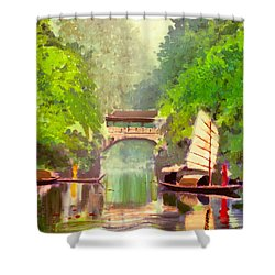 Boatmen Shower Curtain