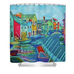 Boats At Burano Shower Curtain