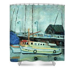 Boats At Provincetown Ma Shower Curtain
