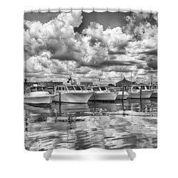 Shower Curtain featuring the photograph Boats by Howard Salmon