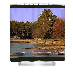 Shower Curtain featuring the photograph Boats In Kennebunkport by Gena Weiser