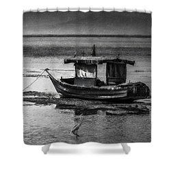 Boats Of Trinidad Shower Curtain