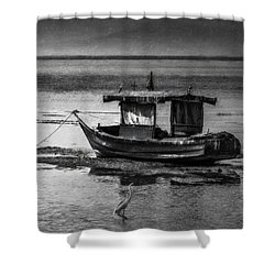 Boats Of Trinidad Shower Curtain