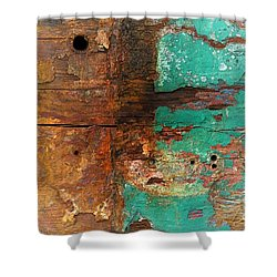 Boatyard Abstract 6 Shower Curtain by Newel Hunter