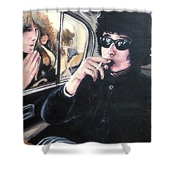Bob Dylan 1966 Shower Curtain by Tom Roderick
