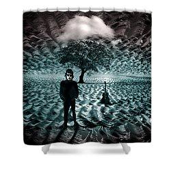 Bob Dylan A Hard Rain's A-gonna Fall Shower Curtain by Mal Bray