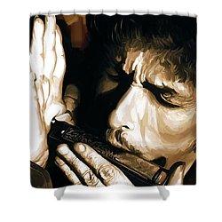 Bob Dylan Artwork 2 Shower Curtain by Sheraz A