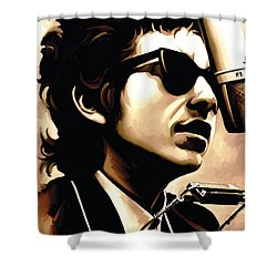 Bob Dylan Artwork 3 Shower Curtain by Sheraz A