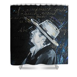 Bob Dylan - Blowing In The Wind Shower Curtain by Lucia Hoogervorst