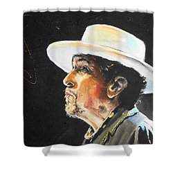 Bob Dylan Shower Curtain by Lucia Hoogervorst