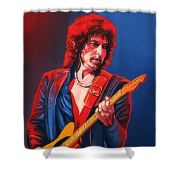 Bob Dylan Painting Shower Curtain by Paul Meijering