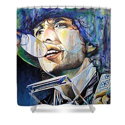 Bob Dylan Tangled Up In Blue Shower Curtain by Joshua Morton