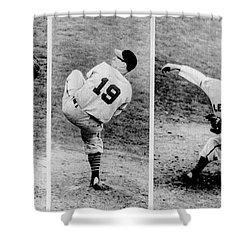 Bob Feller Pitching Shower Curtain