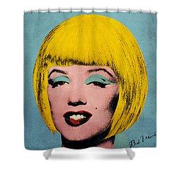 Bob Marilyn  Shower Curtain by Filippo B