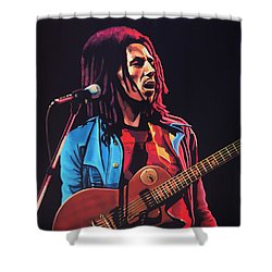 Bob Marley 2 Shower Curtain by Paul Meijering
