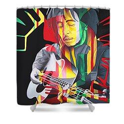 Bob Marley And Rasta Lion Shower Curtain