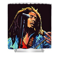 Bob Marley Shower Curtain by Paul Meijering