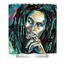Bob Marley Watercolor Portrait.7 Shower Curtain