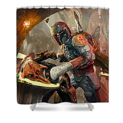 Boba Fett - Star Wars The Card Game Shower Curtain
