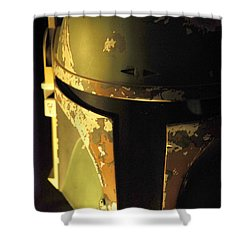 Boba Fett Helmet 124 Shower Curtain by Micah May