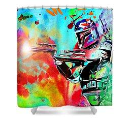 Boba Fett Star Wars Shower Curtain by Daniel Janda