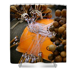 Bobbin Lace Shower Curtain