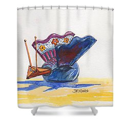 Bobbly Beauty Shower Curtain by Julie Maas