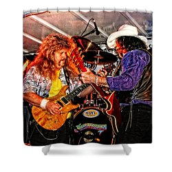 Shower Curtain featuring the photograph Bobby And Russ Jammin' by Mike Martin