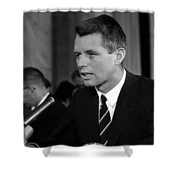 Bobby Kennedy Speaking Before The Senate Shower Curtain by War Is Hell Store