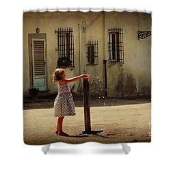 Boboli Bubbler Shower Curtain by Valerie Reeves