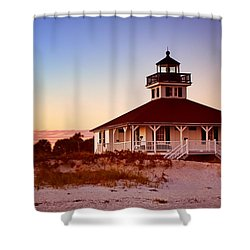 Boca Grande Lighthouse - Florida Shower Curtain by Nikolyn McDonald