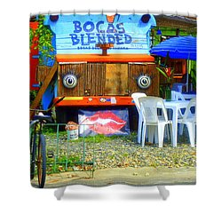 Bocas Blended Shower Curtain by Kris Hiemstra