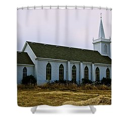 Bodega Church Shower Curtain by Eric Tressler