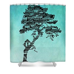 Bodhi Tree Of Awareness Shower Curtain by Tammy Wetzel
