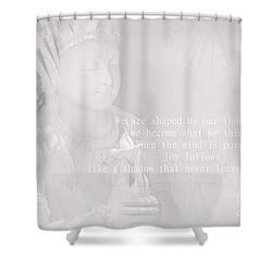 Bodhisattva Shower Curtain by Sharon Mau