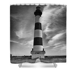 Bodie Island Light In Monochrome Shower Curtain
