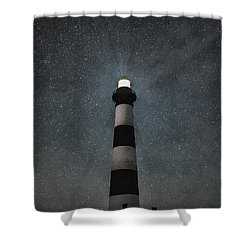 Bodie Island Light Midnight Shower Curtain